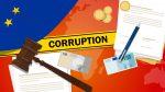 Illustration/compilation of corruption items